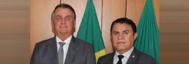 Na imagem o deputado federal paraibano Wilson Santiago e Jair Messias Bolsonaro