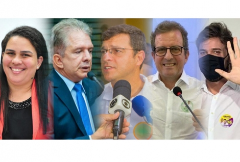 Alguns dos prefeitos eleitos na Paraíba ontem - Luciene de Fofinho (Bayeux); Nabor Wanderley (Patos); Vitor Hugo (Cabedelo); Fabio Tyrone (Sousa); Bruno Cunha Lima (Campina Grande).