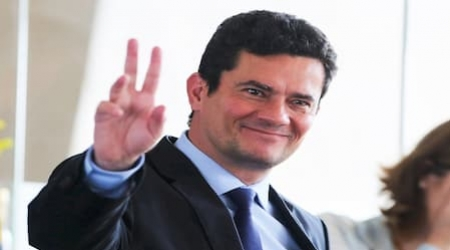 O ministro Sérgio Moro (Justiça) veio para uma visita à sede da Superintendência da Polícia Federal, em João Pessoa