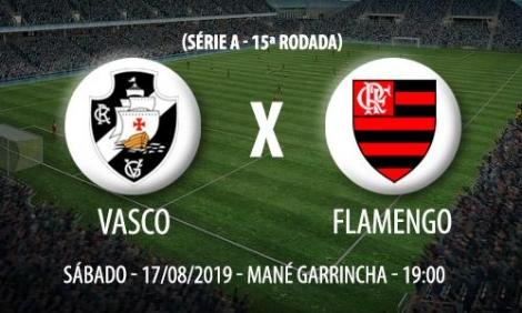 Vasco e Flamengo fazem o clássico carioca da 15ª rodada do Campeonato Brasileiro neste sábado, a partir das 19h (de Brasília), no Estádio Mané Garrincha, em Brasília