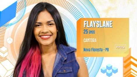 A paraibana Flayslane já foi confirmada como participante da edição do Big Broher Brasil neste ano de 2020. Natural do município de Nova Floresta ela é cantora e tem 25 anos