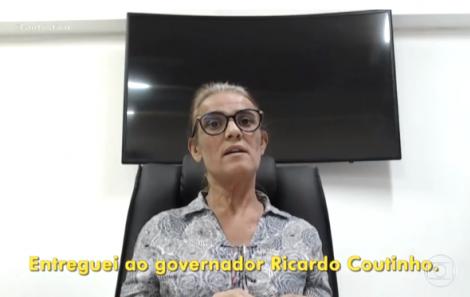 Livânia Farias fez delação premiada no âmbito da Calvário (Reprodução TV Globo)