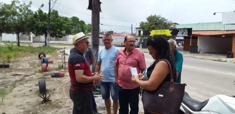 Continuando as visitas aos bairros de João Pessoa, o vereador Professor Gabriel visitou várias localidades do Valentina de Figueiredo na manhã deste domingo