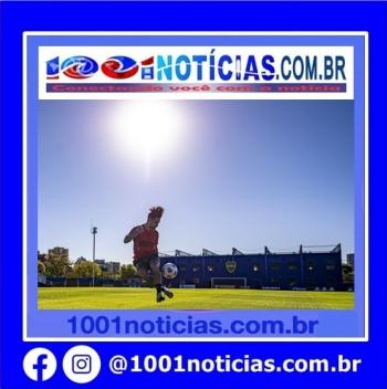 Michael durante treino do Flamengo no CT do Boca Juniors — Foto: Marcelo Cortes / Flamengo