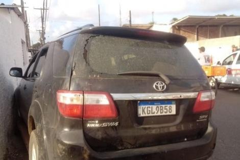 Caminhonete Hilux foi roubada em Sapé (Foto: Reprodução/WhatsApp)