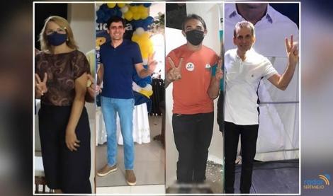 Os quatro candidatos oficializados em convenções municipais