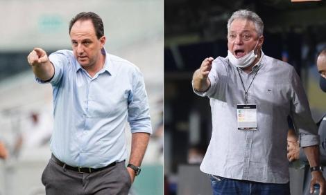 Rogério Ceni e Abel Braga Foto: Montagem sobre foto de Divulgação e AFP