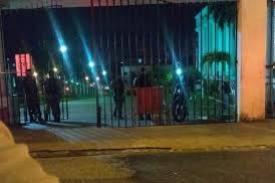 fato aconteceu neste sábado (20), no bairro Pedro Gondim, na sede da Justiça Federal na Paraíba (Foto: Reprodução/WhatsApp)