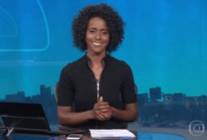 CURIOSIDADES  - Maju Coutinho mostra parte de trás da bancada do Jornal Nacional