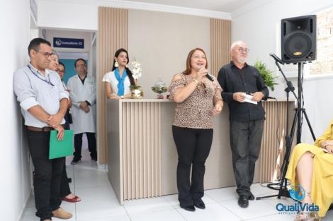 A prefeita Gilene Cândido, esteve na última segunda-feira participando  da inauguração da Policlínica Qualivida – Serviços de Saúde na cidade de Bananeiras