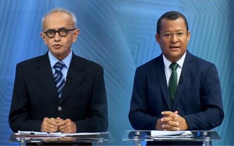 Cícero Lucena e Nilvan Ferreira protagonizaram o debate na TV Correio (Reprodução)
