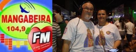 A equipe de transmissão da Rádio Mangabeira 104,9 FM, que levou aos seus ouvintes 12 horas ininterruptas de informações e notícias sobre a 256° Romaria da Penha