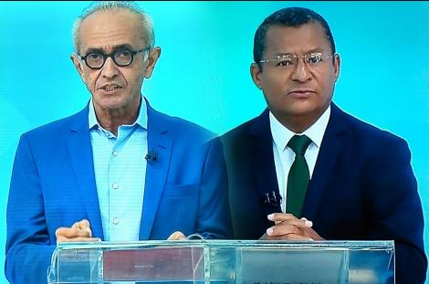 Na imagem os candidatos a prefeito de João Pessoa, Cícero Lucena (PP) e Nilvan Ferreira (MDB)