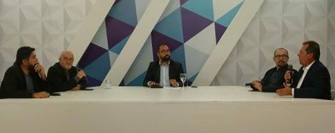 O debate no Master News teve a mediação do Jornalista Germano Costa com a participação do advogado Herderley Florêncio Vieira, Jornalista Roberto Notícia, Caco Pereira e Pedro Sabino