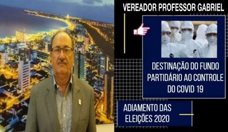 O vereador Professor Gabriel defende também que haja a unificação das eleições em 2022 para todos os cargos eletivos