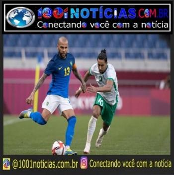 Dani Alves durante partida do Brasil contra a Arábia Saudita, nas Olimpíadas de Tóquio Lucas Figueiredo/ CBF